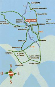Mapa de carreteras Piedrasecha